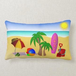 Beach Sun Sea and Surf MoJo Lumbar Throw Pillow