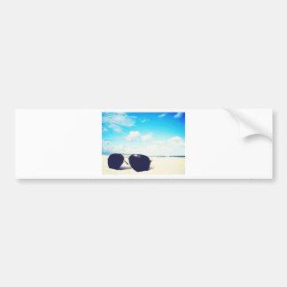 Beach Sunglasses Bumper Sticker