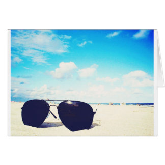 Beach Sunglasses Card
