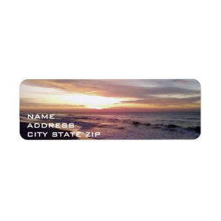 ****BEACH SUNRISE**** ADDRESS LABEL