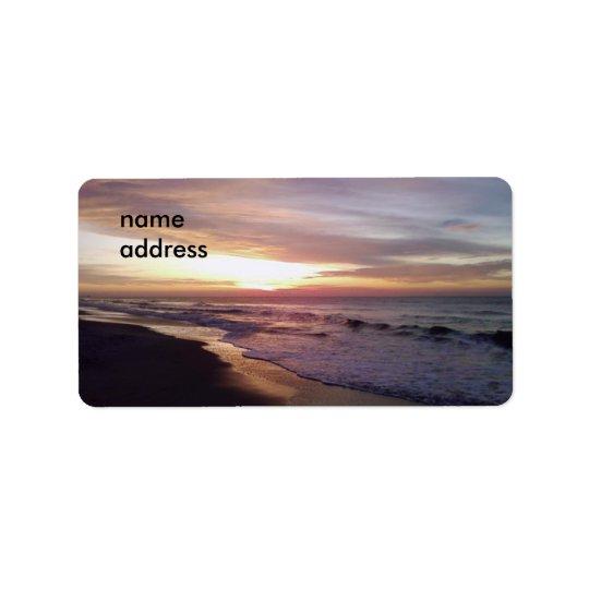 BEACH SUNRISE LABEL ADDRESS LABEL