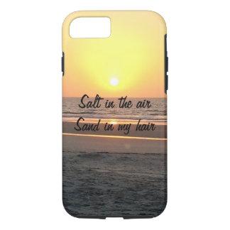 Beach Sunrise quote phone case