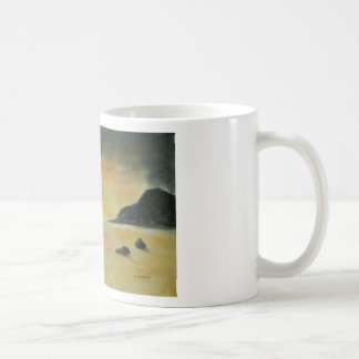 Beach Sunset Basic White Mug