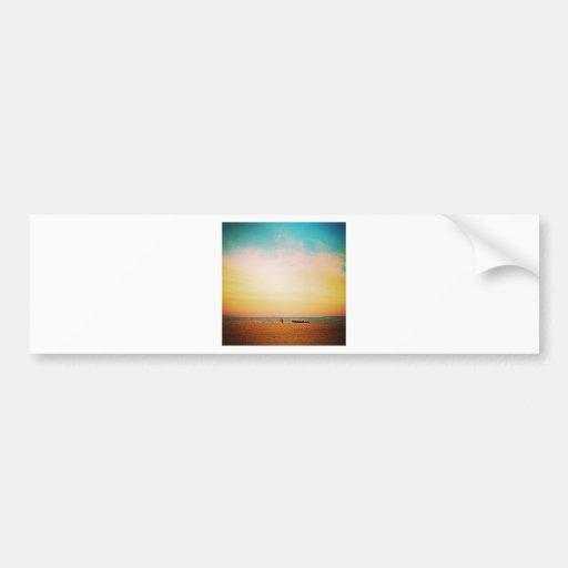 Beach Sunset Bumper Sticker