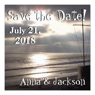 Beach Sunset Cross Save Date Magnet Card Magnetic Invitations