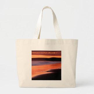 Beach Sunset Drakes Bay Marin Tote Bags