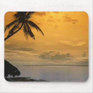 Beach sunset mouse pad