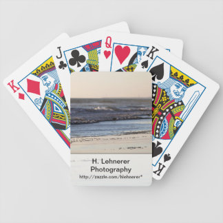 Beach Sunset Ormond Beach Bicycle Playing Cards