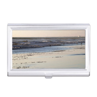 Beach Sunset Ormond Beach Business Card Holder