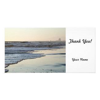 Beach Sunset Ormond Beach Customised Photo Card