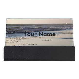 Beach Sunset Ormond Beach Desk Business Card Holder
