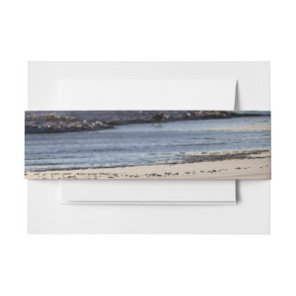 Beach Sunset Ormond Beach Invitation Belly Band