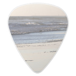 Beach Sunset Ormond Beach White Delrin Guitar Pick