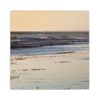 Beach Sunset Ormond Beach Wood Coaster