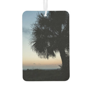 Beach Sunset Palm Tree Car Air Freshener