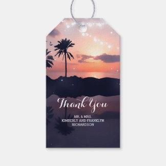 Beach Sunset Palms Wedding