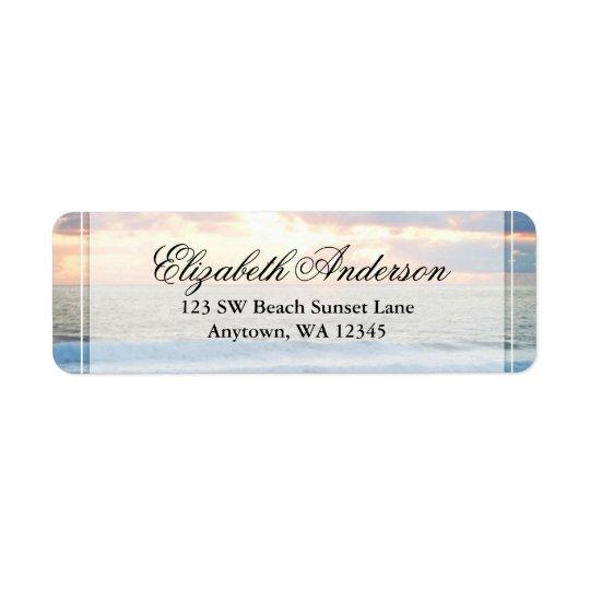 Beach Sunset Personalised Address Label