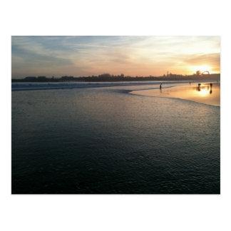 Beach Sunset, Santa Cruz, CA Postcard
