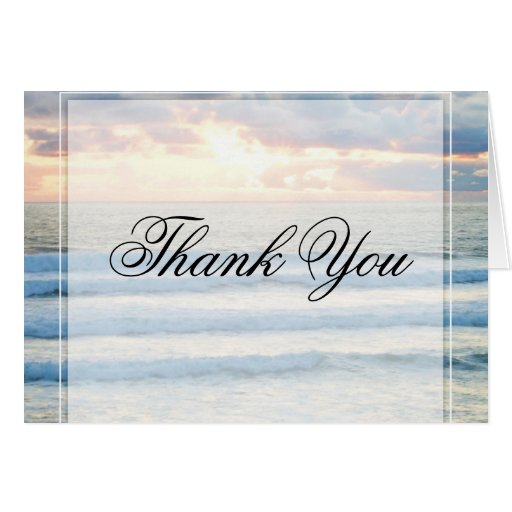 Beach Sunset Thank You Cards