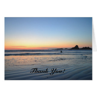 Beach Sunset Thank You Card