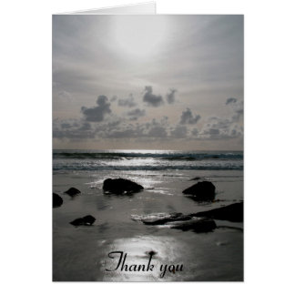 Beach Sunset Thank You card