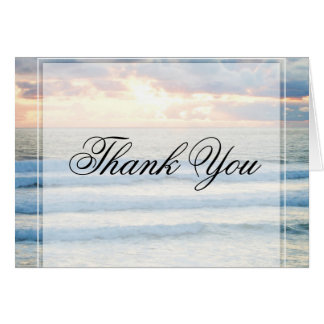 Beach Sunset Thank You Note Card