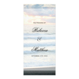Beach Sunset Wedding Program Rack Card Template