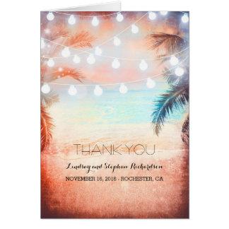 Beach Sunset Wedding Thank You cards