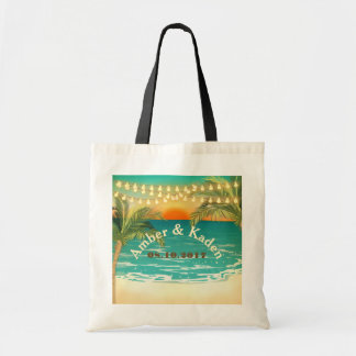 Beach Sunset Wedding Tote Budget Tote Bag