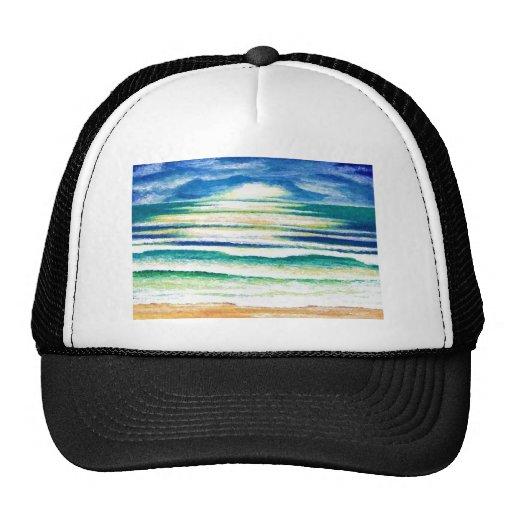 Beach Surf Ocean Waves Beach Decor Sunrise Hats