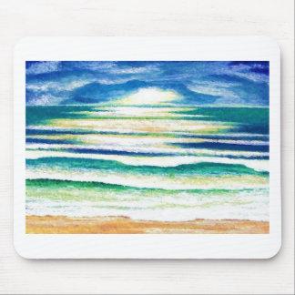 Beach Surf Ocean Waves Beach Decor Sunrise Mousepad