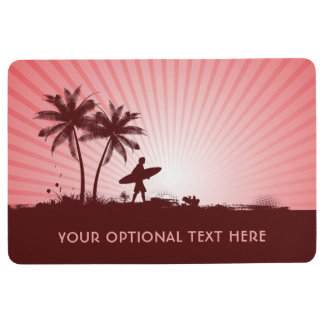 Beach Surfer custom floor mat