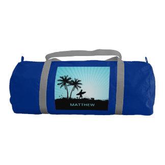 Beach Surfer custom name gym bags