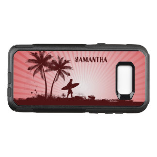 Beach Surfer custom name phone cases