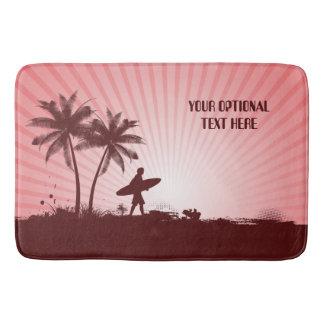 Beach Surfer custom text bath mats