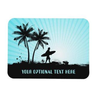 Beach Surfer custom text magnet