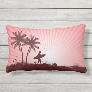 Beach Surfer throw pillows