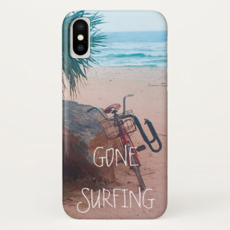 Beach | Surfing | Bicycle | Gone Surfing iPhone X Case