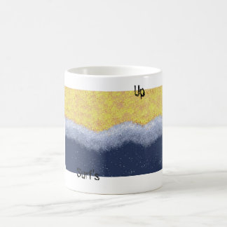 beach, surf's up basic white mug