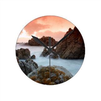Beach Surreal Sundown South Africa Wall Clocks