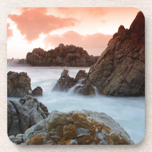Beach Surreal Sundown South Africa Coaster