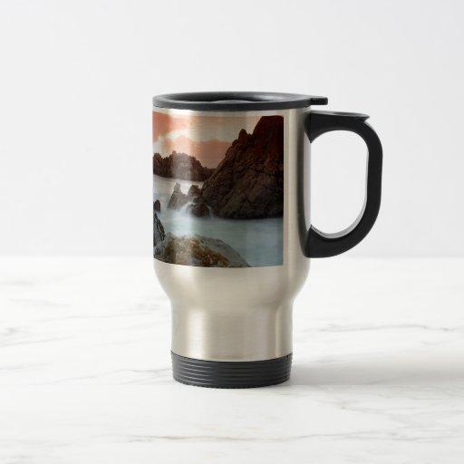 Beach Surreal Sundown South Africa Coffee Mugs