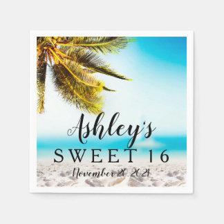 Beach Sweet 16 Personalized Napkin Disposable Napkin