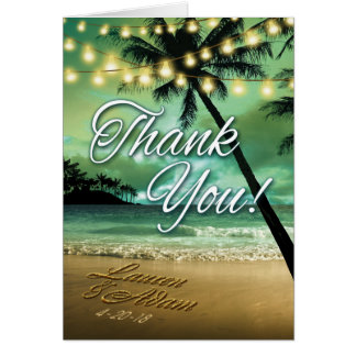 Beach Thank You ASK ME TO PUT NAMES  IN SAND Card
