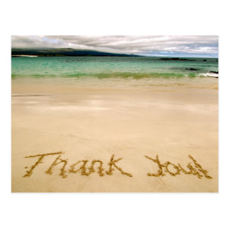 "Beach ""Thank You"" Note Postcard-Send on Honeymoon! Postcard"