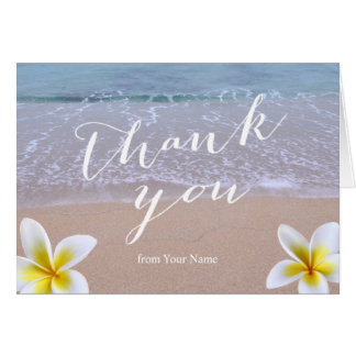 Beach Theme Baby Shower Thank You Card