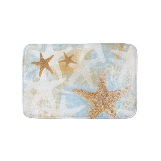 Beach Theme Coastal Starfish Print | Bath Mat