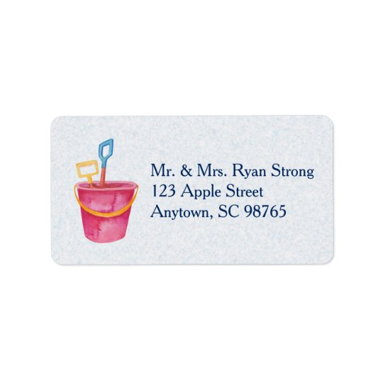 Beach Theme Custom Address Label