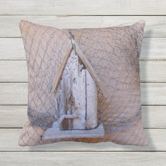 Beach theme patio pillow