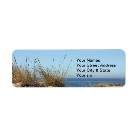 Beach Theme Return Address Label